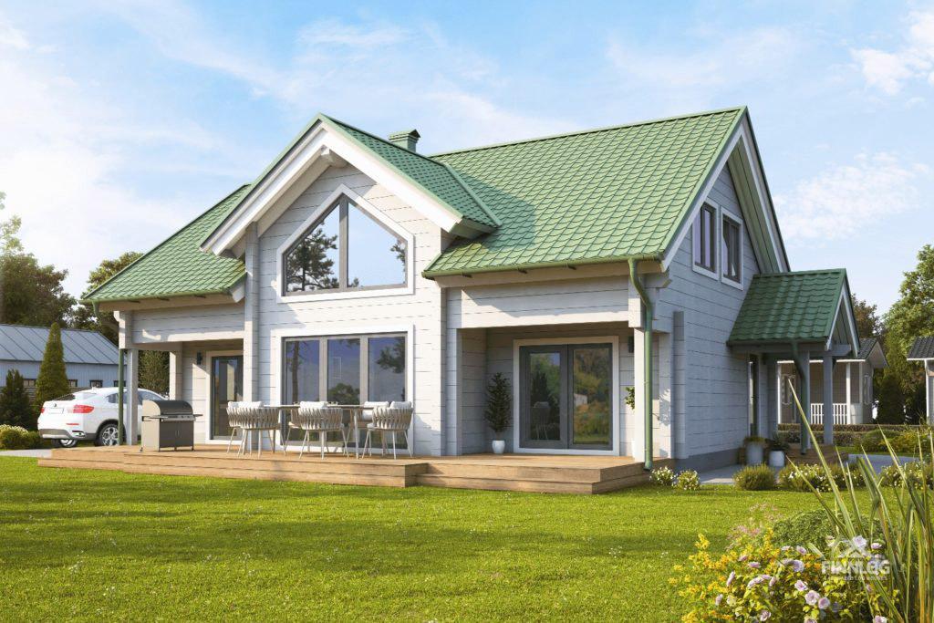 Ermen Blockhaus mit Terrasse und Garten
